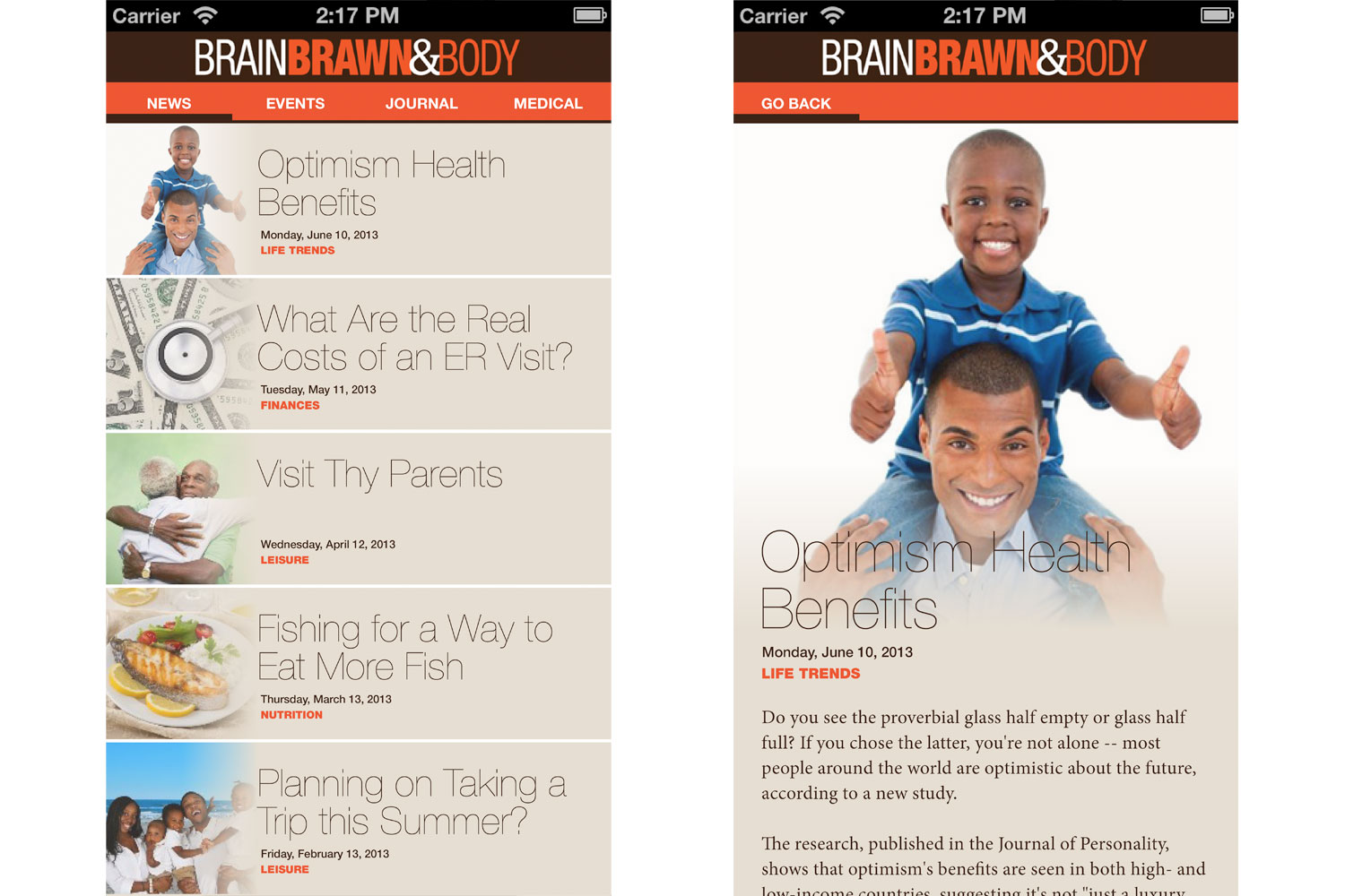 Brain Brawn and Body App Blog